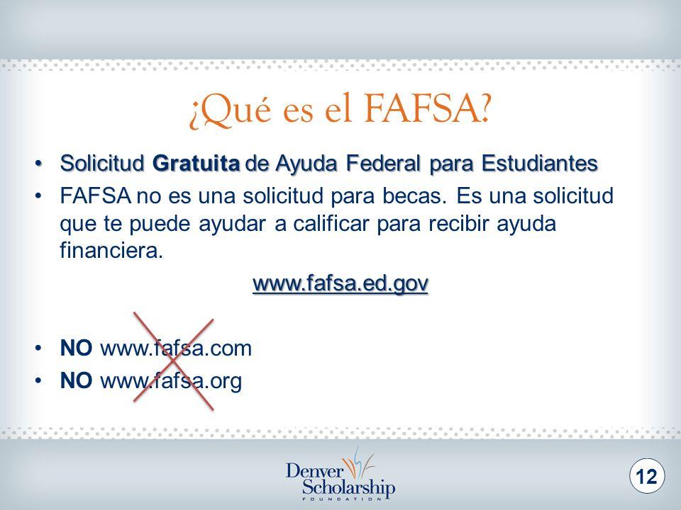 ¿Quién puede aplicar para el FAFSA