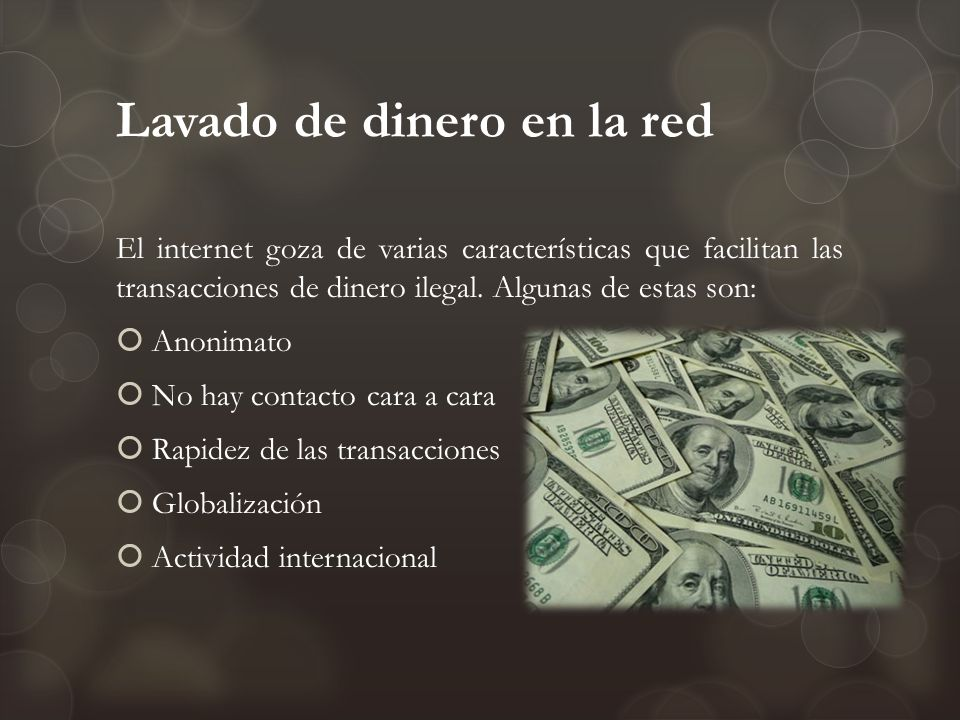 Lavado de dinero en la red