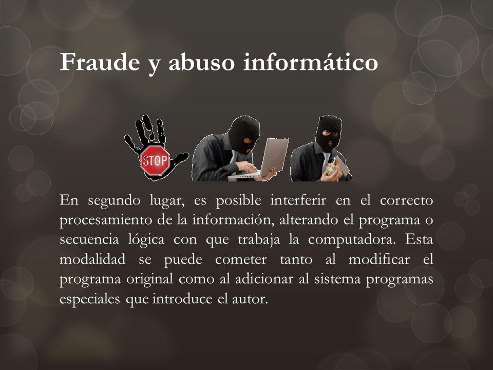 Fraude y abuso informático