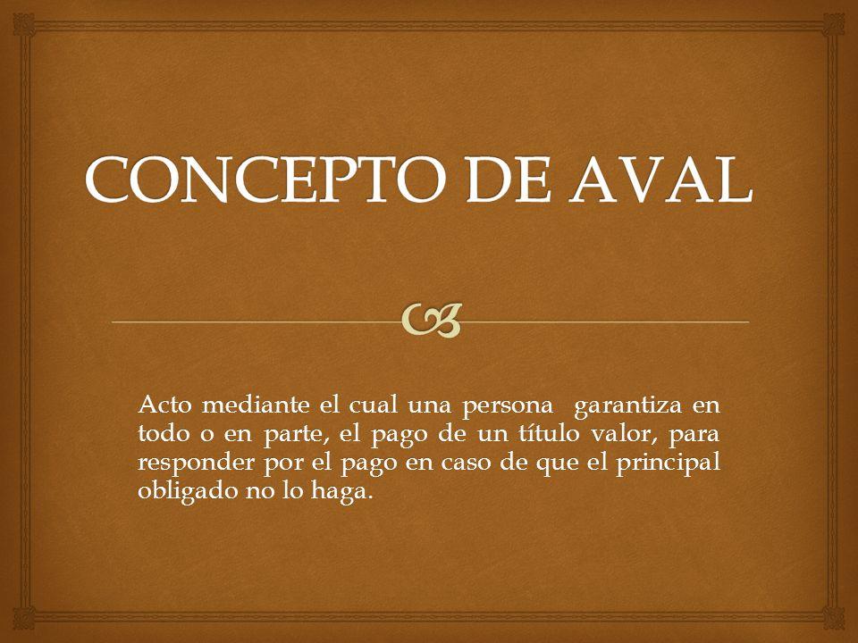 CONCEPTO DE AVAL
