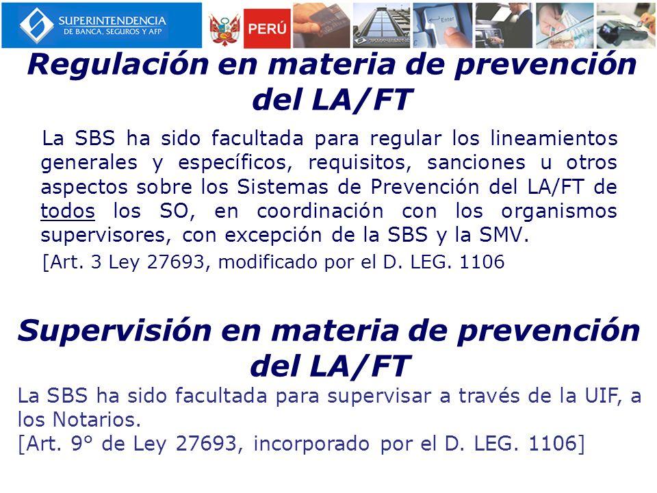 Regulación en materia de prevención del LA/FT