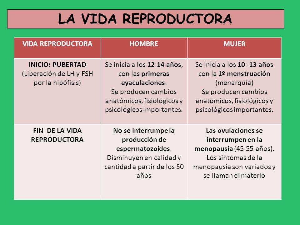 FIN DE LA VIDA REPRODUCTORA