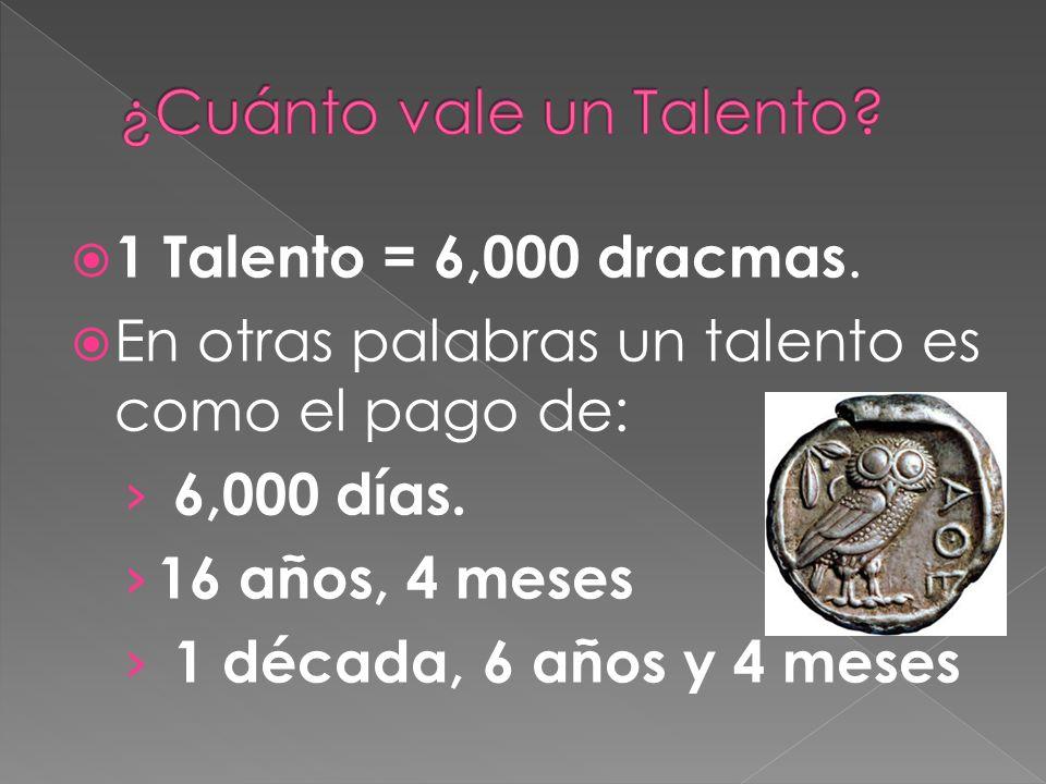 ¿Cuánto vale un Talento