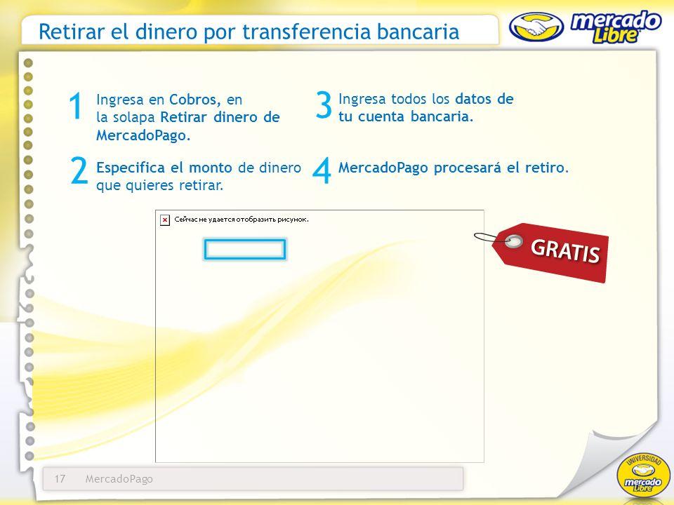 Retirar el dinero por transferencia bancaria