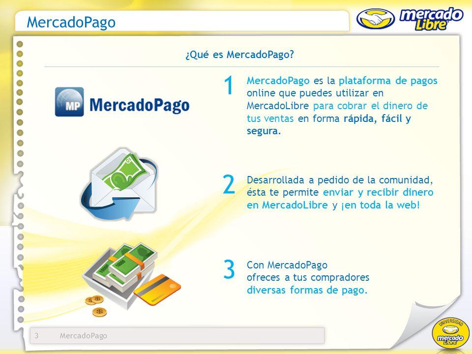 1 2 3 MercadoPago ¿Qué es MercadoPago