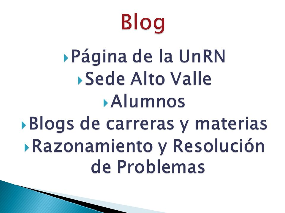 Blogs de carreras y materias Razonamiento y Resolución de Problemas
