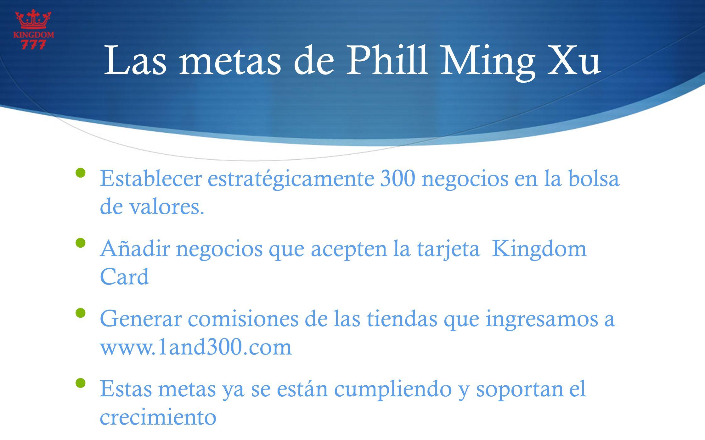 Las metas de Phill Ming Xu