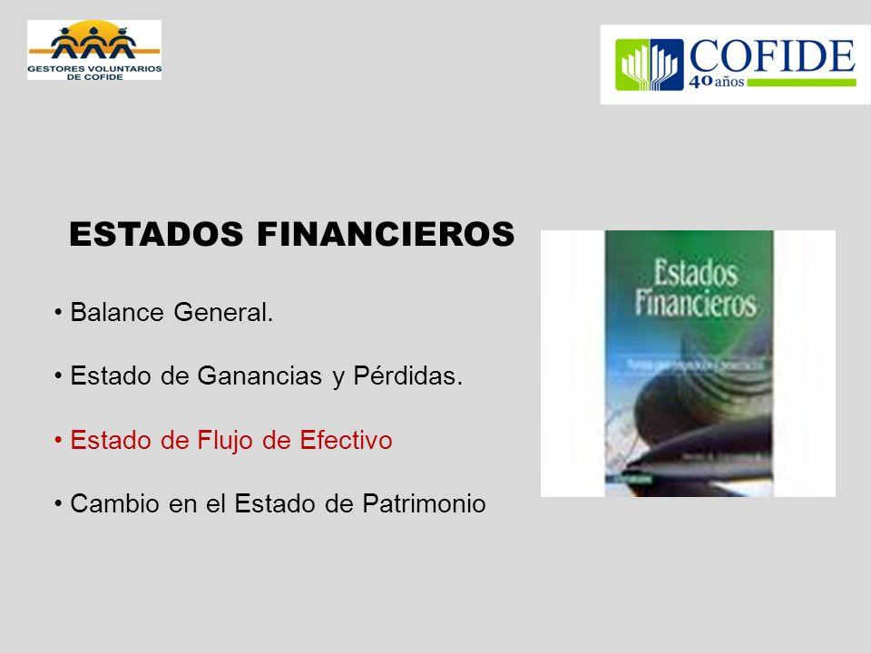 ESTADOS FINANCIEROS Balance General. Estado de Ganancias y Pérdidas.