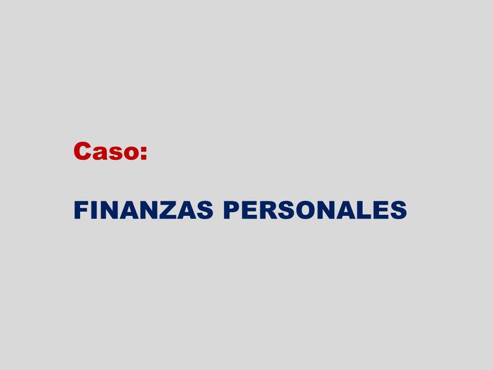 Caso: FINANZAS PERSONALES
