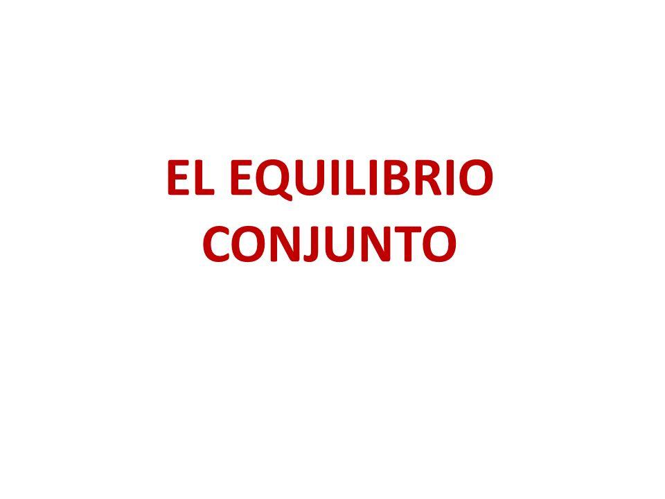EL EQUILIBRIO CONJUNTO