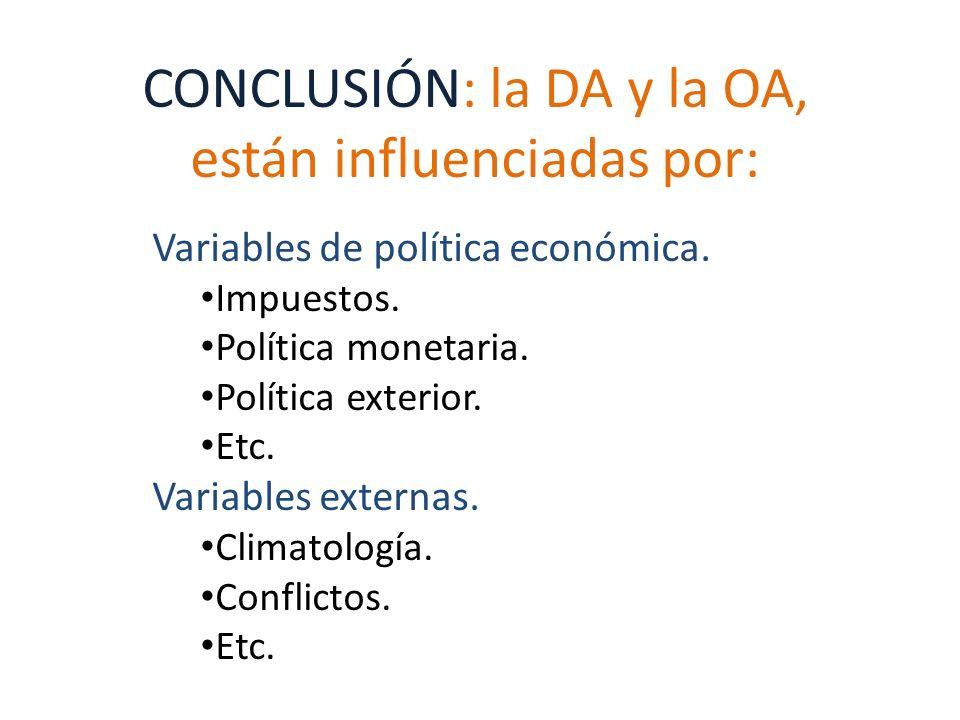 CONCLUSIÓN: la DA y la OA, están influenciadas por: