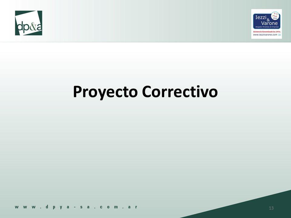 Proyecto Correctivo