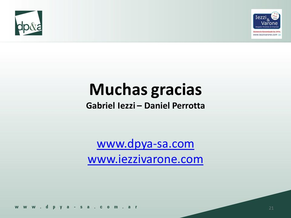 Muchas gracias Gabriel Iezzi – Daniel Perrotta