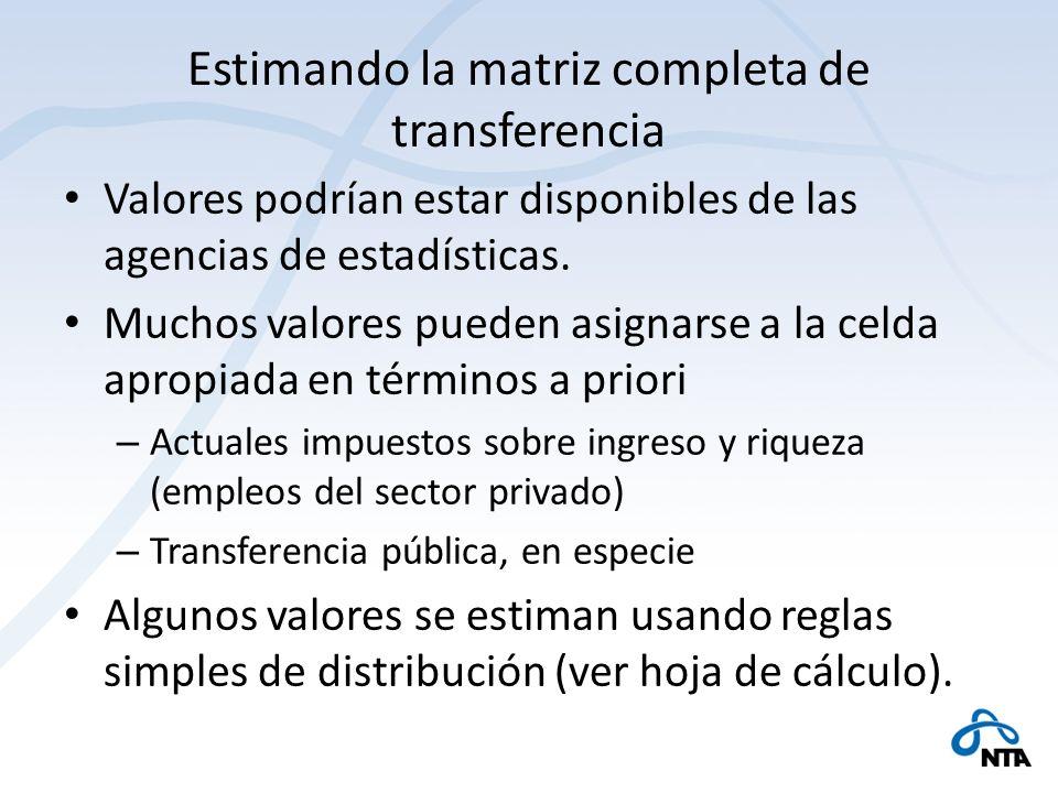 Estimando la matriz completa de transferencia