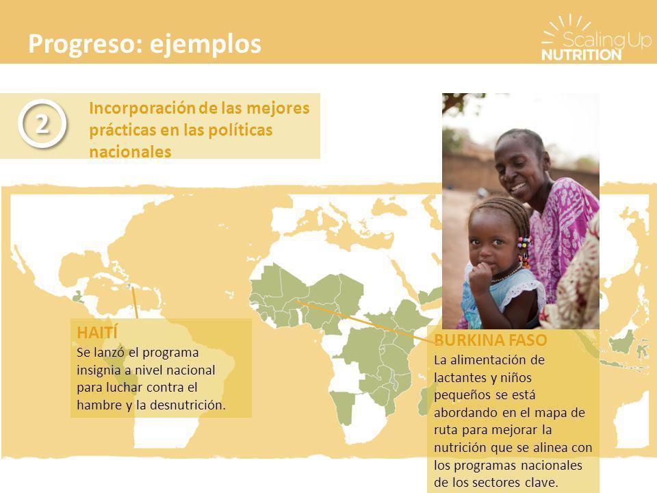 Progreso: ejemplos Incorporación de las mejores prácticas en las políticas nacionales. 2. HAITÍ.