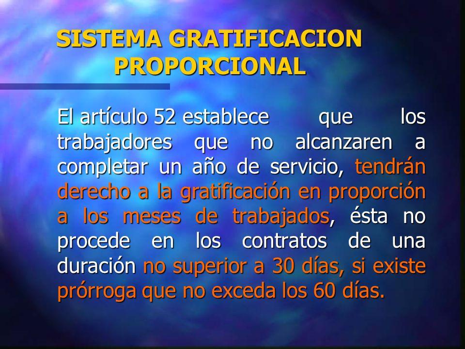 SISTEMA GRATIFICACION PROPORCIONAL