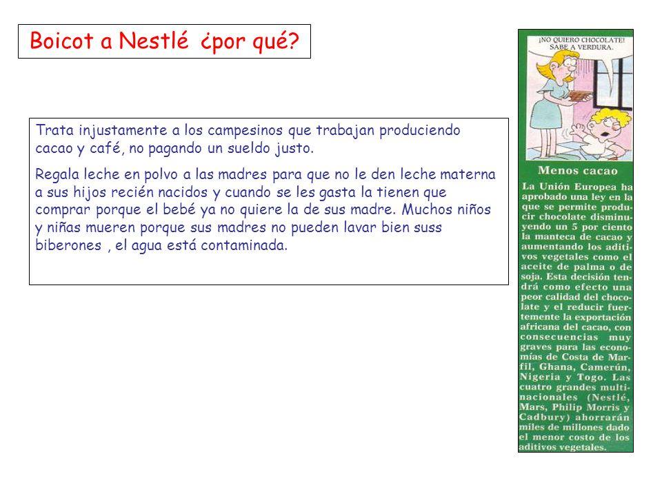 Boicot a Nestlé ¿por qué