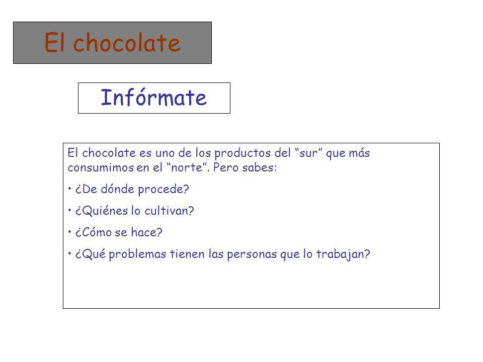 El chocolate Infórmate