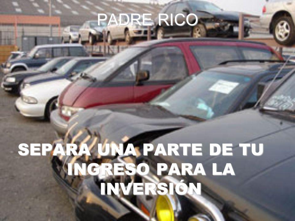 SEPARA UNA PARTE DE TU INGRESO PARA LA INVERSIÓN