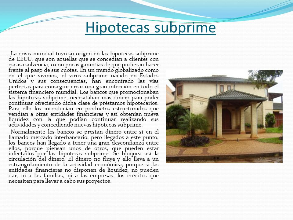 Hipotecas subprime