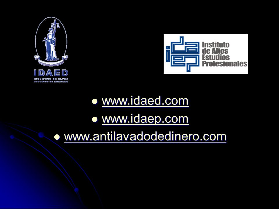 www.idaed.com www.idaep.com www.antilavadodedinero.com