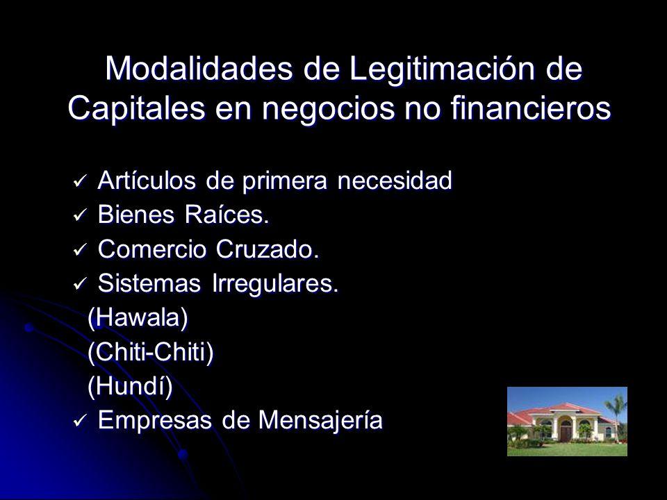 Modalidades de Legitimación de Capitales en negocios no financieros