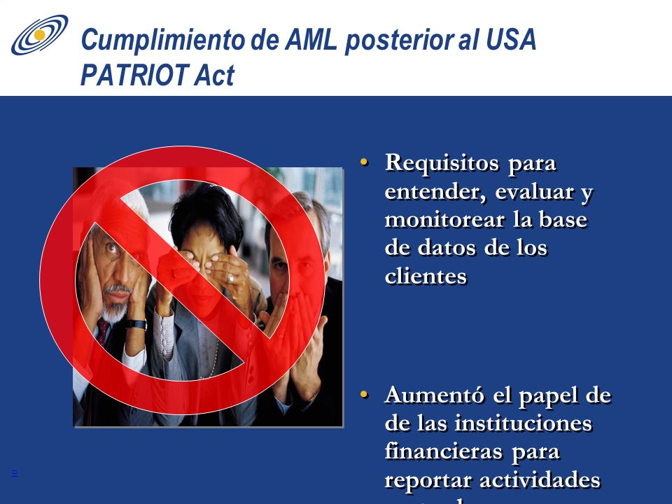 Cumplimiento de AML posterior al USA PATRIOT Act