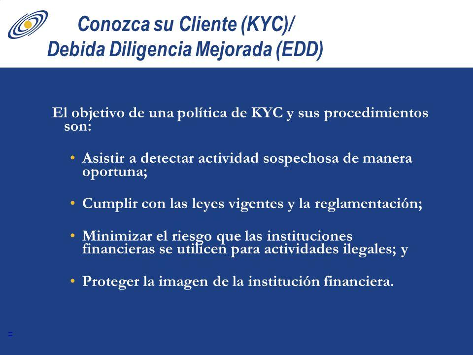 Conozca su Cliente (KYC)/ Debida Diligencia Mejorada (EDD)
