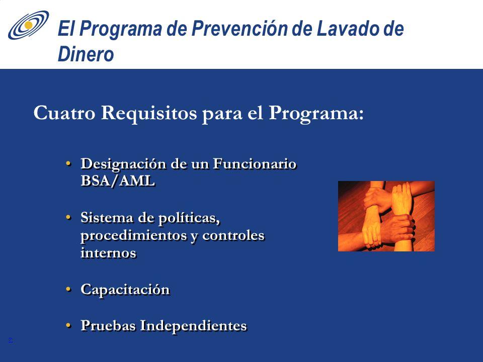 El Programa de Prevención de Lavado de Dinero