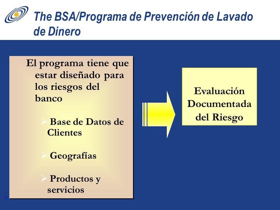 The BSA/Programa de Prevención de Lavado de Dinero