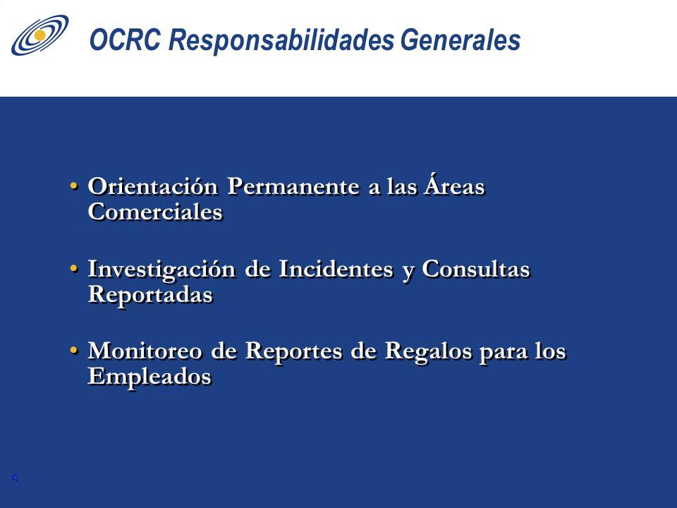 OCRC Responsabilidades Generales