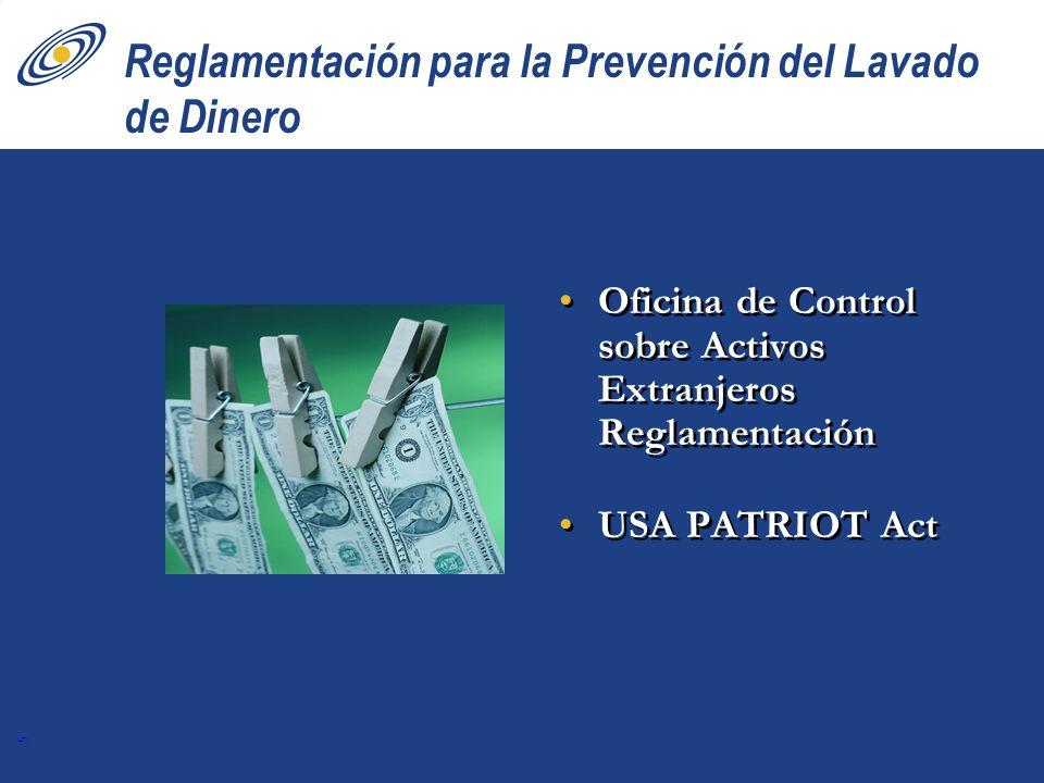 Reglamentación para la Prevención del Lavado de Dinero