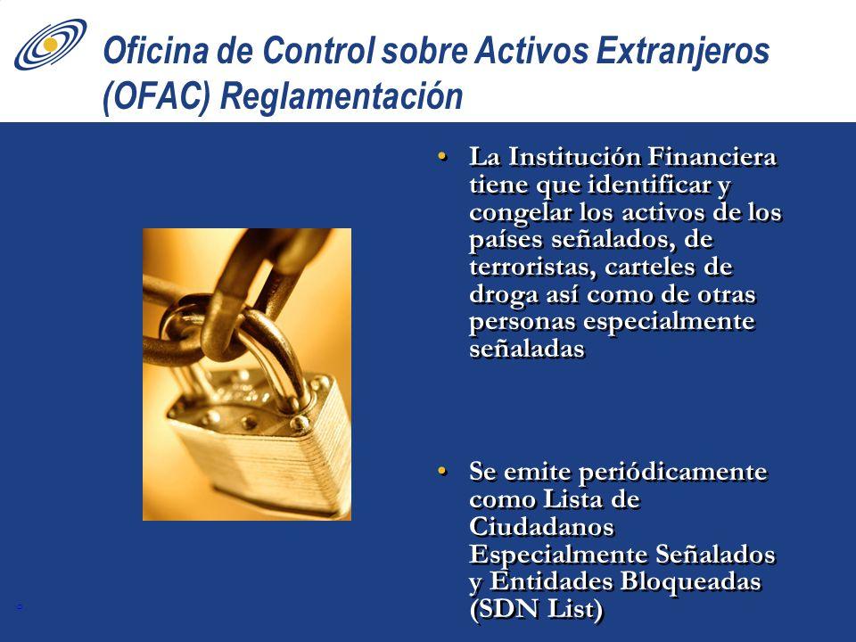 Oficina de Control sobre Activos Extranjeros (OFAC) Reglamentación