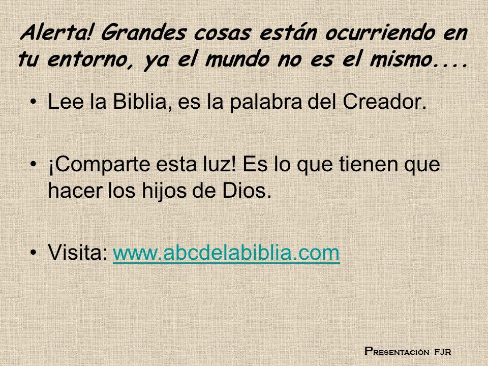 Lee la Biblia, es la palabra del Creador.