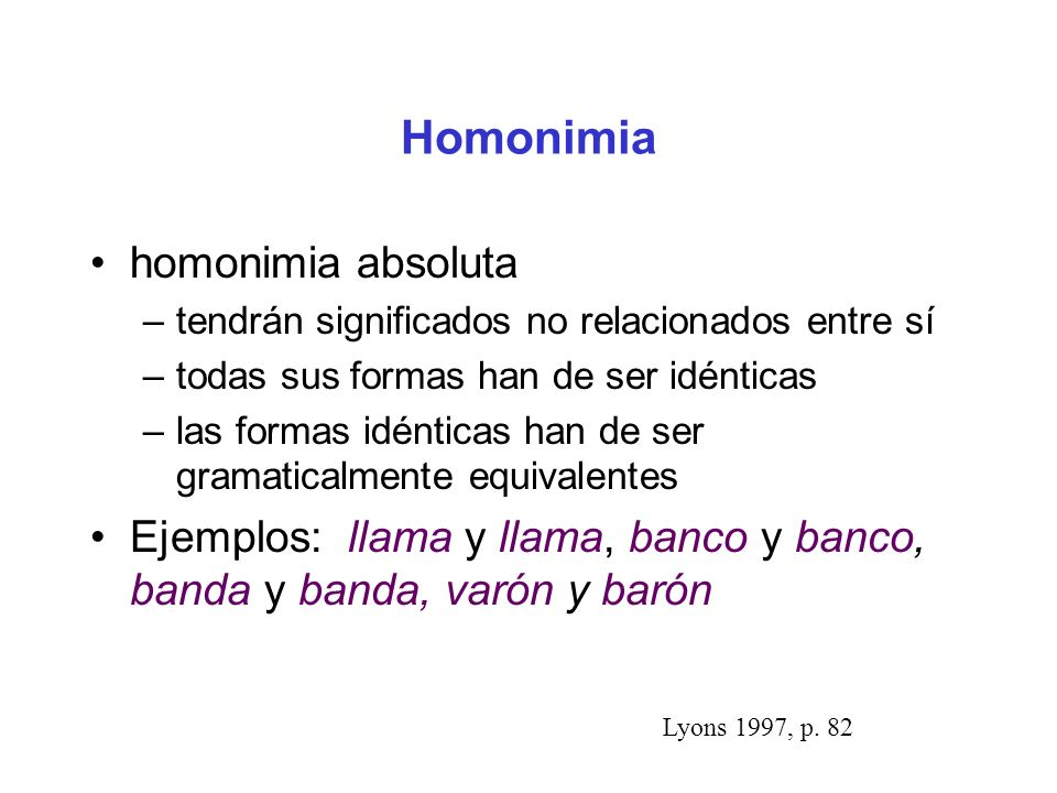 Homonimia homonimia absoluta
