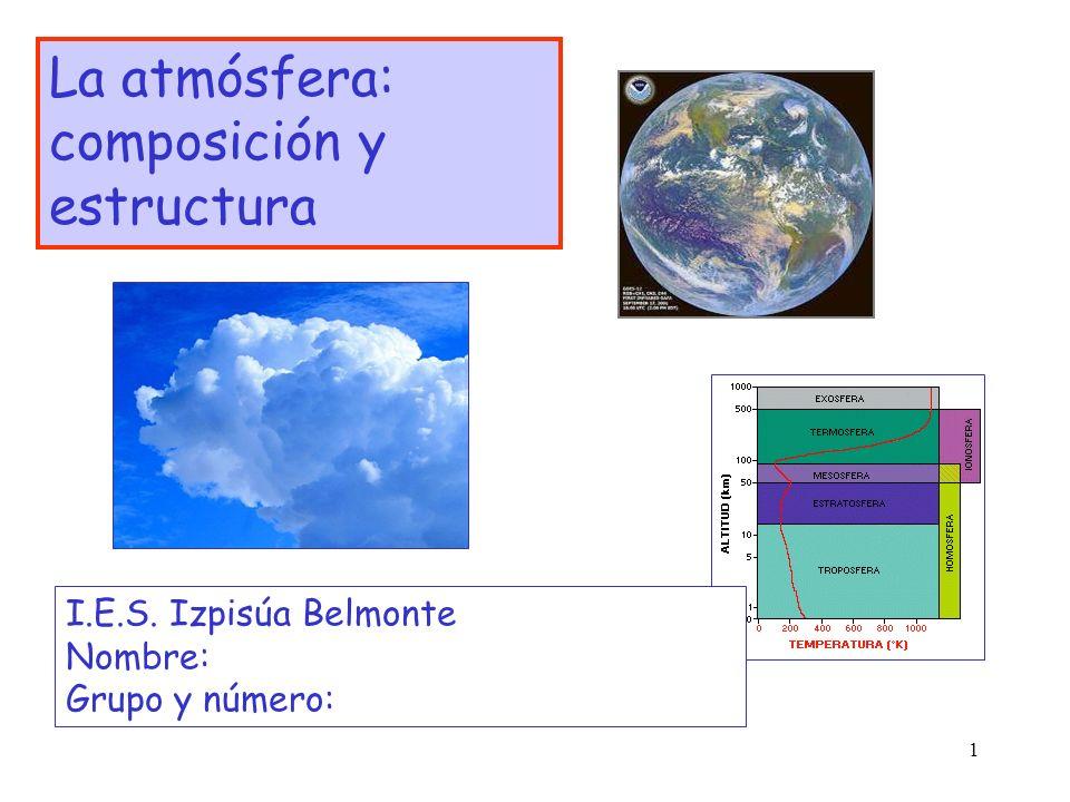 La atmósfera: composición y estructura