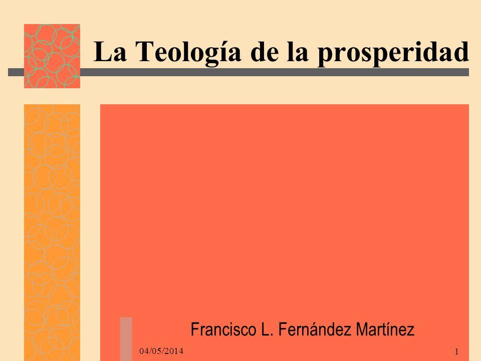 La Teología de la prosperidad
