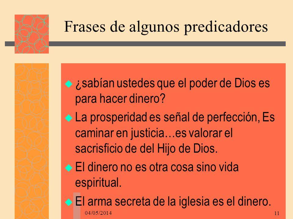 Frases de algunos predicadores