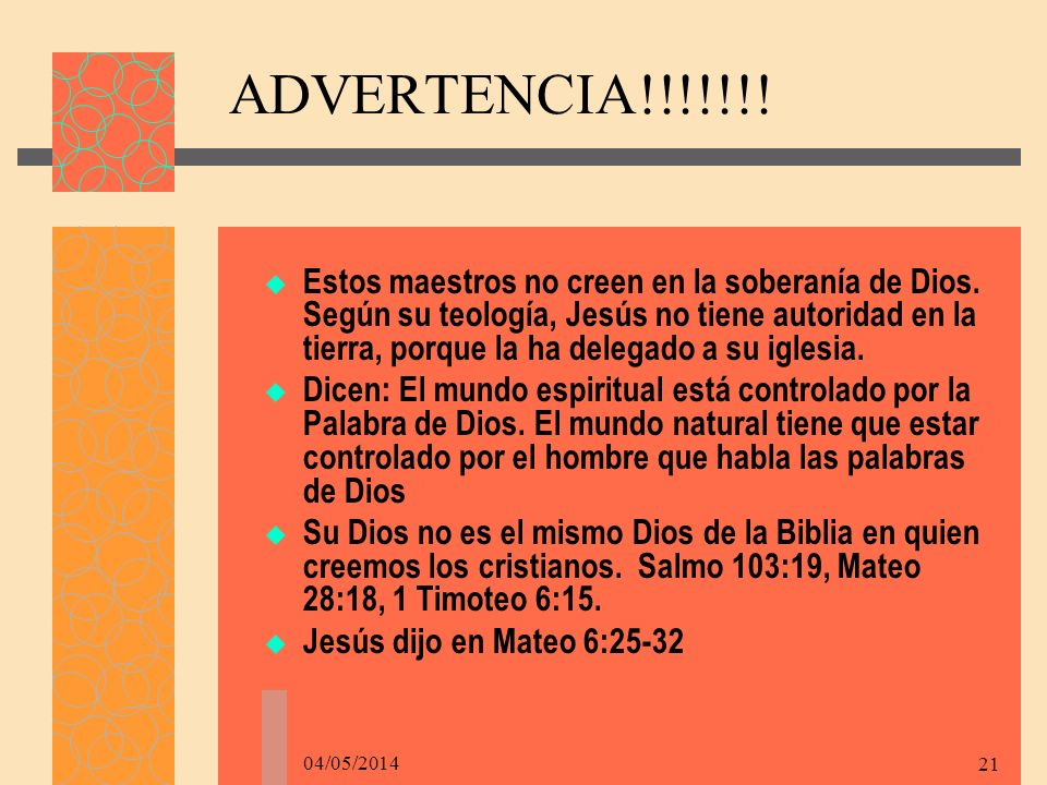 ADVERTENCIA!!!!!!!