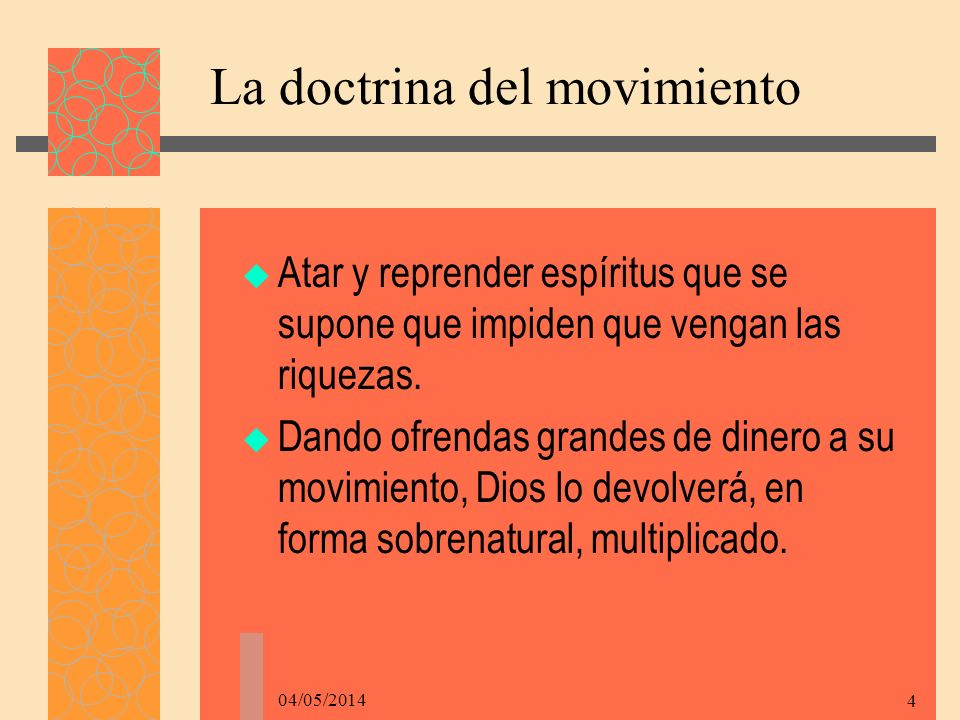 La doctrina del movimiento