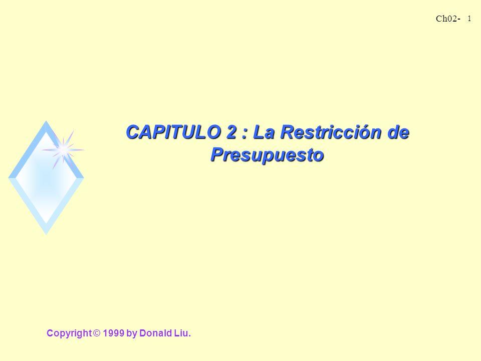 CAPITULO 2 : La Restricción de Presupuesto
