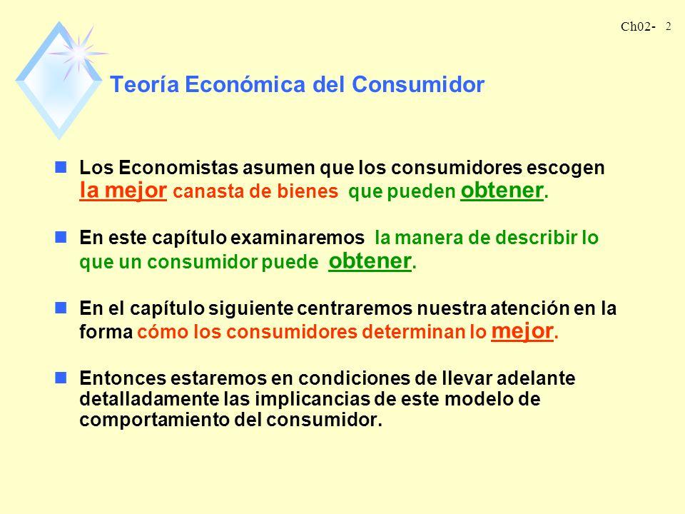 Teoría Económica del Consumidor