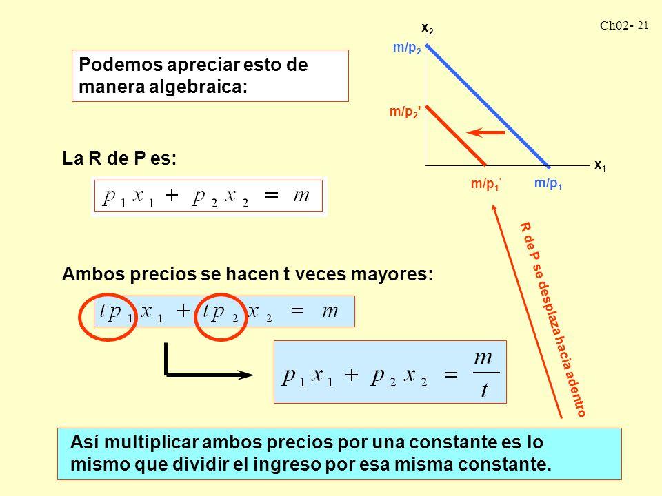 Podemos apreciar esto de manera algebraica:
