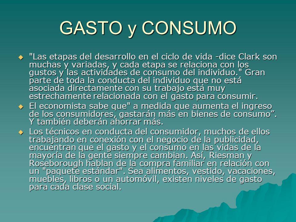 GASTO y CONSUMO