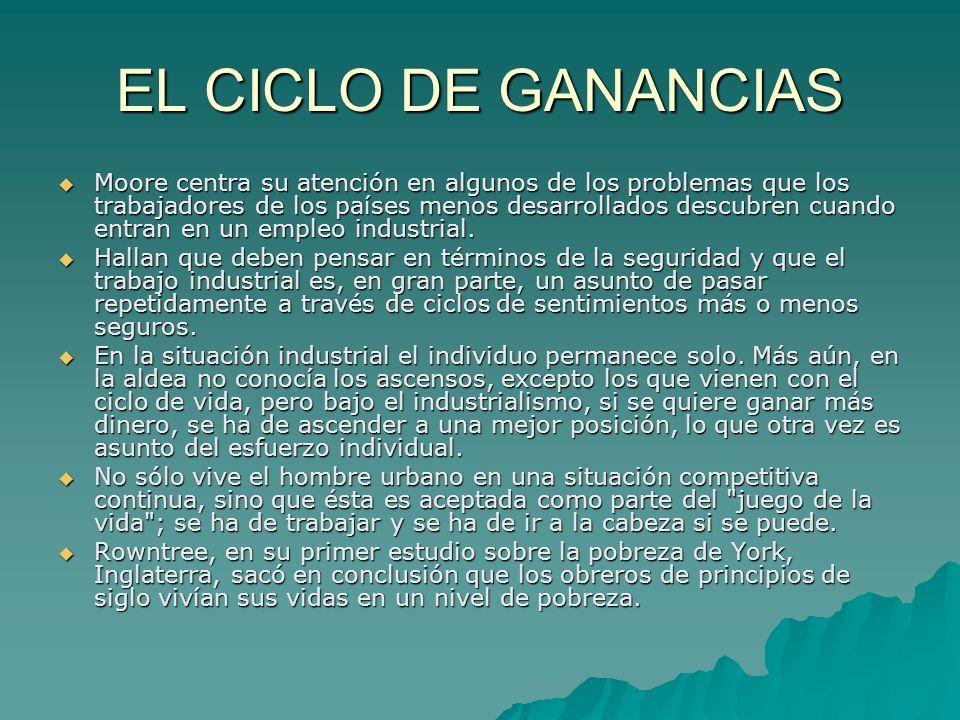 EL CICLO DE GANANCIAS