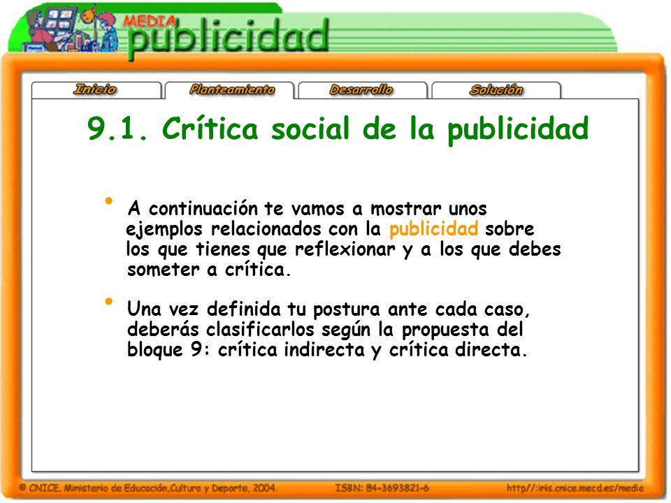 9.1. Crítica social de la publicidad