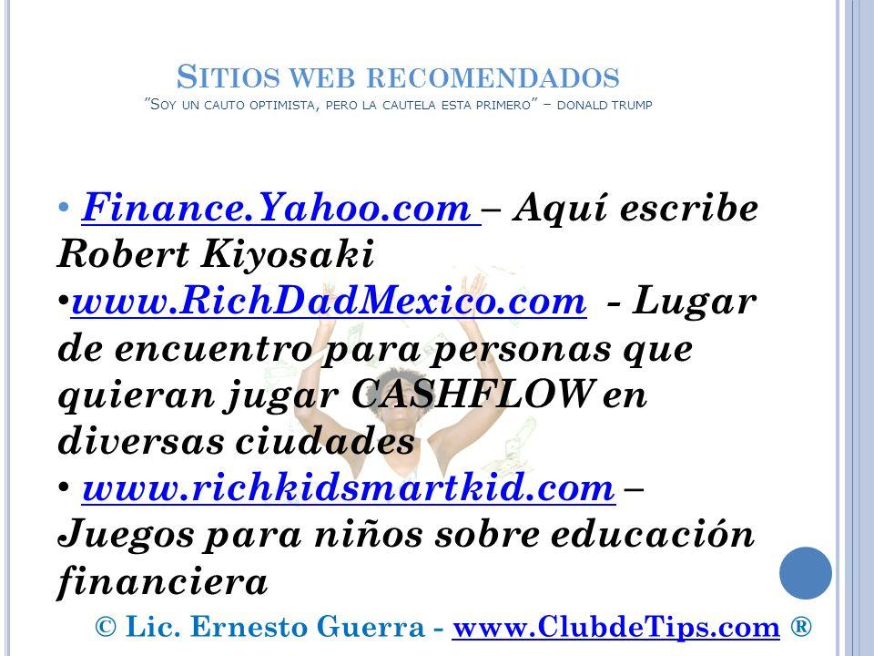 © Lic. Ernesto Guerra - www.ClubdeTips.com ®