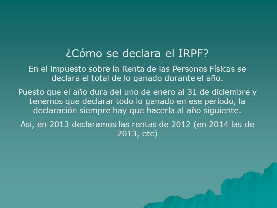 ¿Cómo se declara el IRPF
