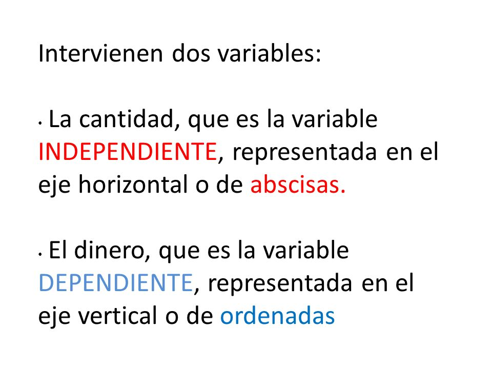 Intervienen dos variables: