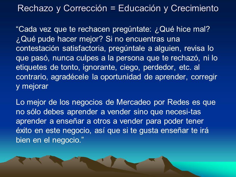 Rechazo y Corrección = Educación y Crecimiento